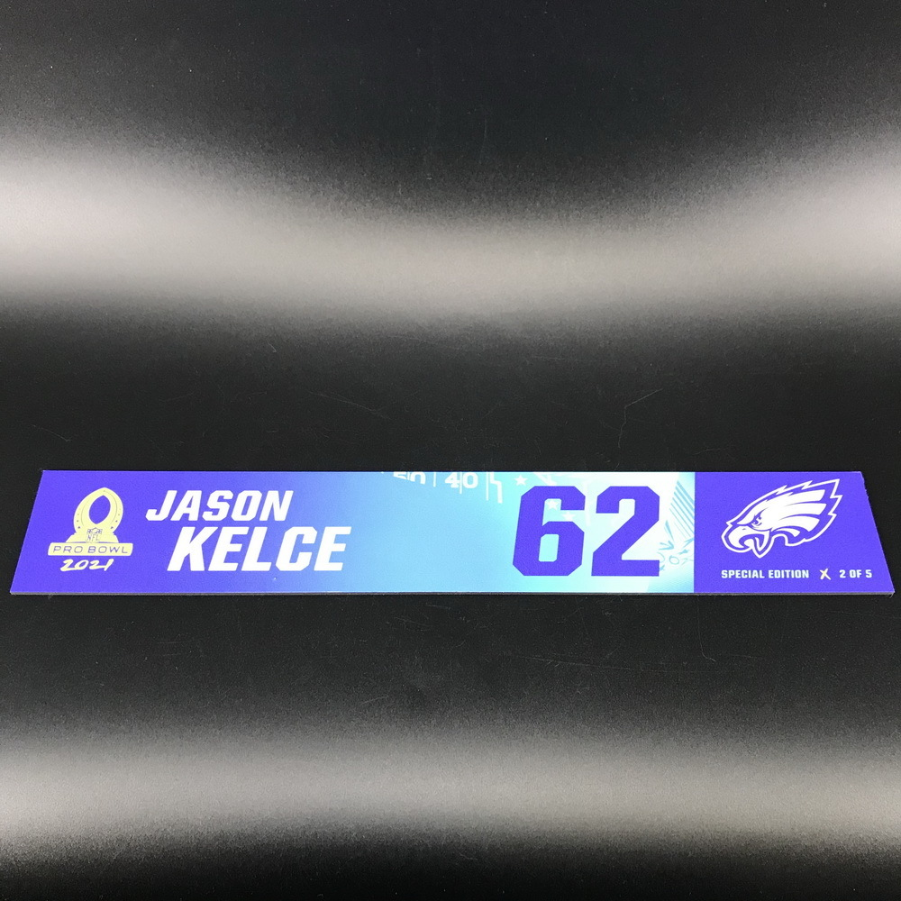 NFL - Eagles Jason Kelce 2021 Pro Bowl Locker Nameplate Special Edition #2 of 5