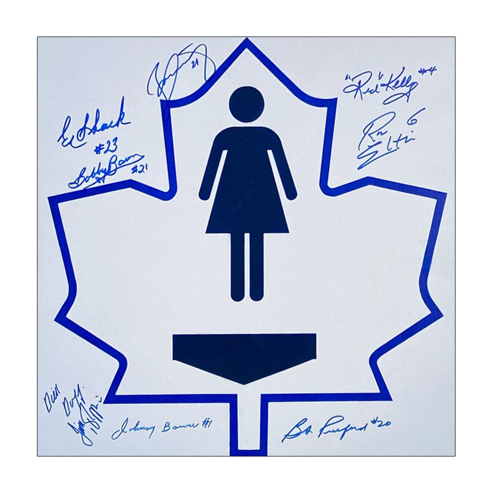 Toronto Maple Leafs Legends Autographed Replica MLG Bathroom Sign