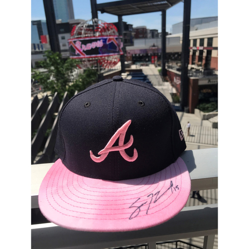 Sean Newcomb Autographed MLB New Era Pink Cap