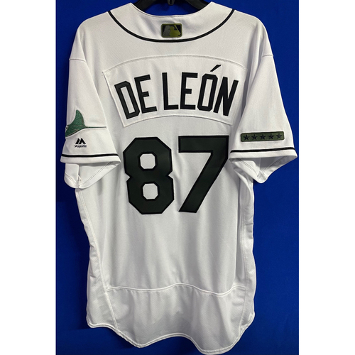 Photo of Team Issued Memorial Day Home Jersey: Jose De Leon - May 27, 2018 v BAL