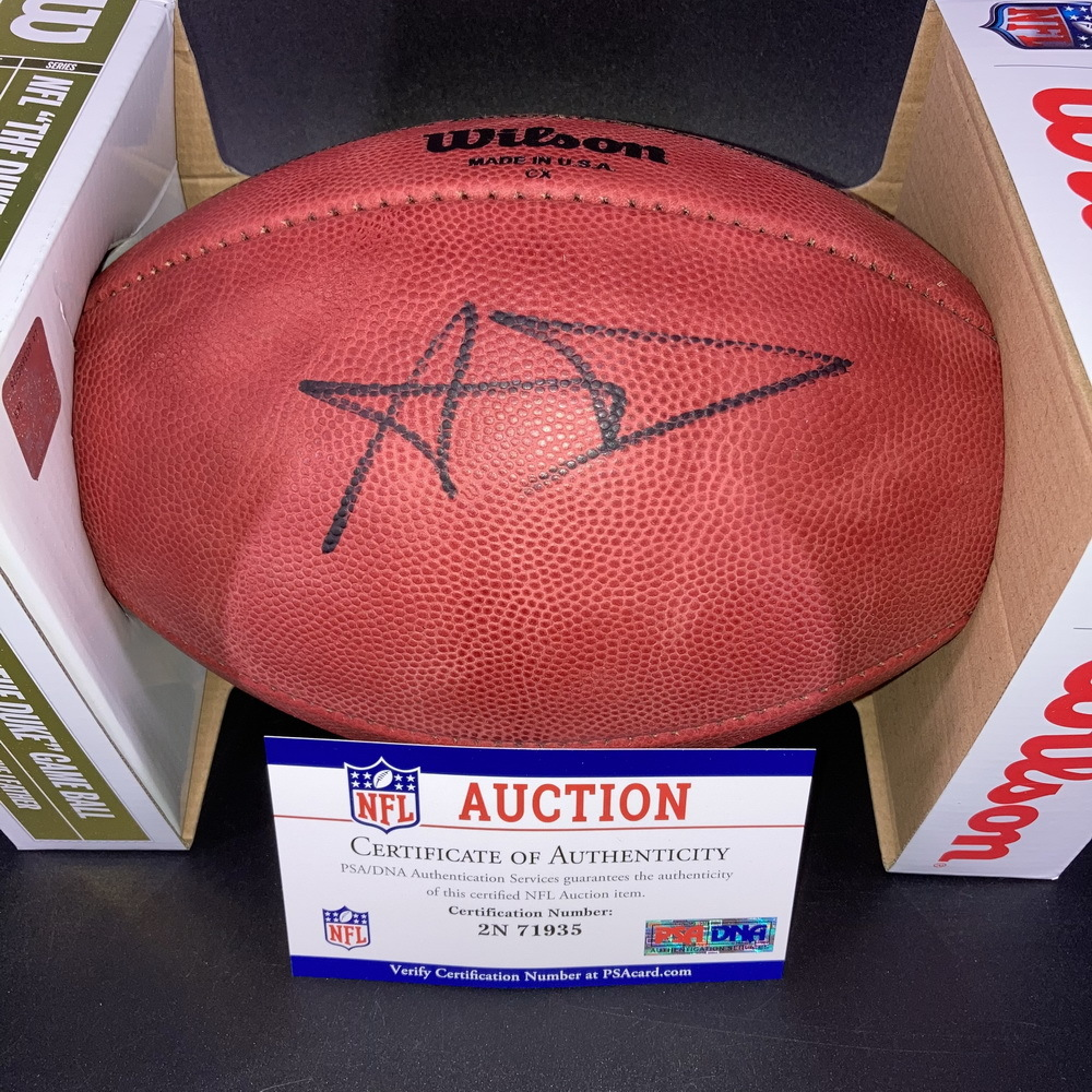 NFL - Rams Aaron Donald Signed Authentic Football