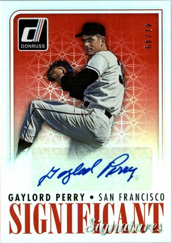 Photo of 2016 Donruss Significant Signatures Red #5 Gaylord Perry