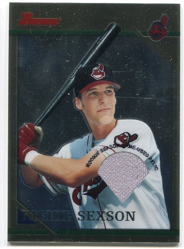 Photo of 2001 Bowman Chrome Rookie Reprints Relics #2 Richie Sexson Jsy