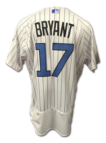 0911d8eb9 Kris Bryant Game-Used Jersey -- Father s Day 2016 -- Bryant Hits 17th
