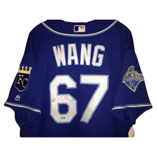 Chien Ming Wang Autographed Jersey (Blue) - Size 50