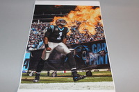 PANTHERS - CAM NEWTON 11 X 14 SIGNED PHOTO (MULTIPLE CREASES ON PHOTO)