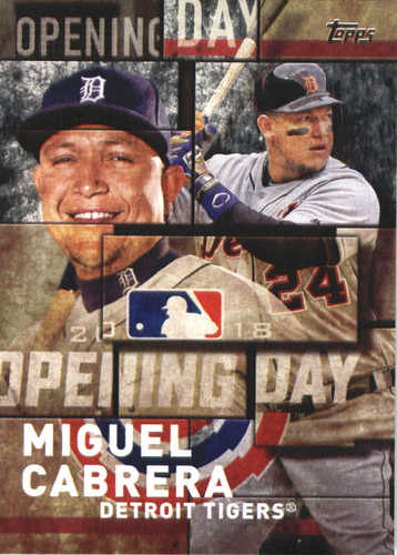 Photo of 2018 Topps Opening Day Insert #OD16 Miguel Cabrera