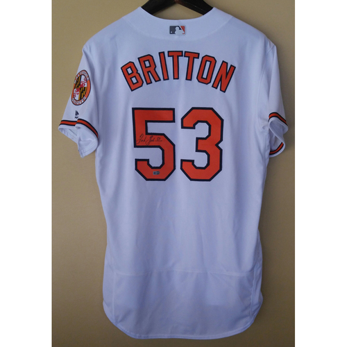 Photo of Zach Britton - Home Jersey: Autographed