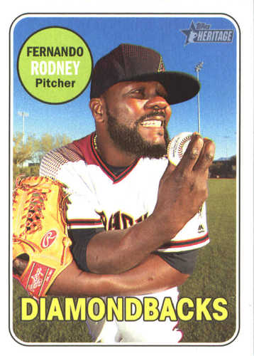 Photo of 2018 Topps Heritage #38 Fernando Rodney