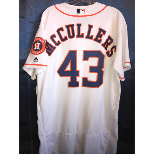 Photo of 2017 Game-Used Lance McCullers Home Jersey: Size - 46