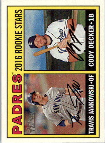Photo of 2016 Topps Heritage #174 Cody Decker RC/Travis Jankowski RC