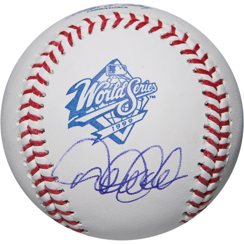 Photo of Derek Jeter Autographed 1999 World Series Logo Baseball
