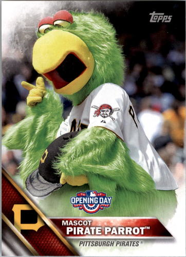 Photo of 2016 Topps Opening Day Mascots #M17 Pirate Parrot