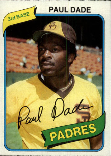 Photo of 1980 Topps #254 Paul Dade DP