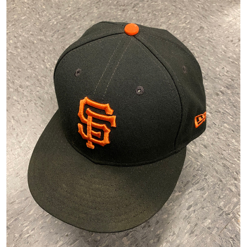 Photo of 2019 Game Used Cap worn by #43 Curt Young on 9/29 vs. Los Angeles Dodgers - Bochy's Final Game - Size 7 1/8