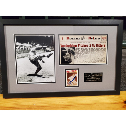 Photo of Johnny Vander Meer Autographed Frame