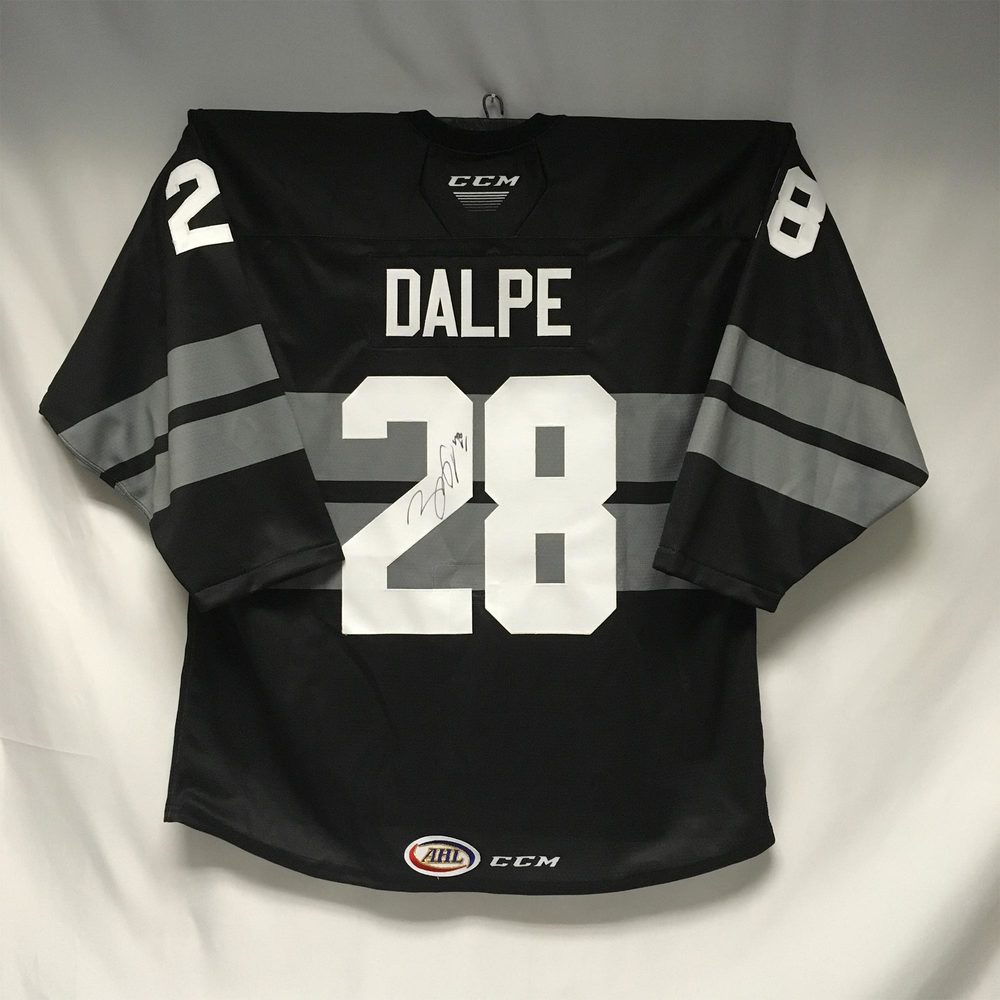 2019-20 Cleveland Monsters Army Jersey Worn and Signed by #28 Zac Dalpe