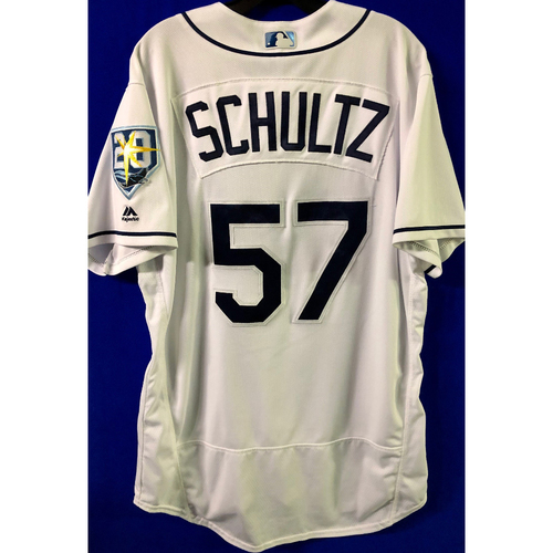 Photo of Game Used Jersey: Jaime Schultz (1.2IP, 4 SO) - Rookie Season & 1st MLB Start - Five Games - September 24-28, 2018 v NYY & TOR