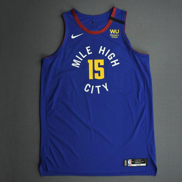 Image of Nikola Jokic - Denver Nuggets - Game-Worn Statement Edition Jersey - 2019-20 NBA Season Restart