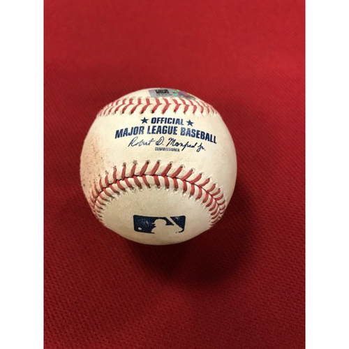 Photo of Game-Used Baseball 8/4/20 Houston Astros at Arizona Diamondbacks: Taylor Widener vs. Carlos Correa (Walk)