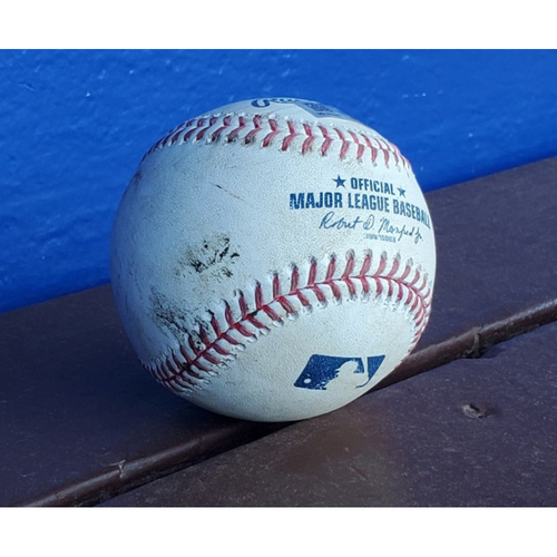 Photo of 2020 Phillies Game-Used Baseball - Alec Bohm RBI Double