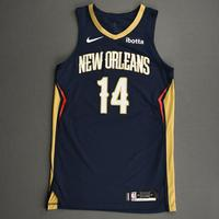 Brandon Ingram - New Orleans Pelicans - Kia NBA Tip-Off 2020 - Game-Worn Icon Edition Jersey - Double-Double