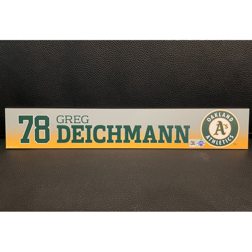 Photo of Greg Deichmann Team Issued 2020 Spring Training Locker Nameplate