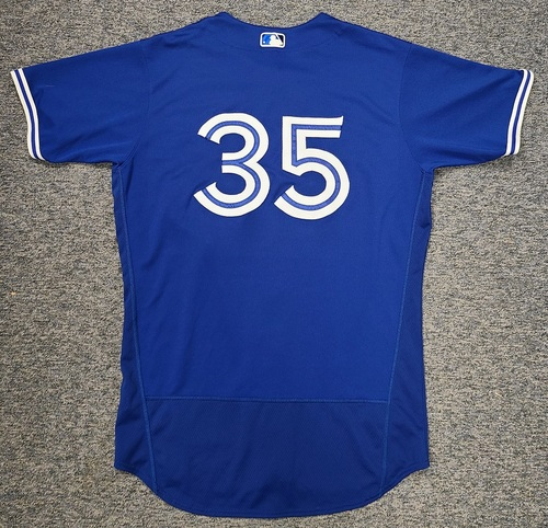 Photo of Authenticated Game Used Spring Training Jersey: #35 David Phelps (Mar 28, 2021: 1 IP, 3 Hits, 3 ER). Size 46.