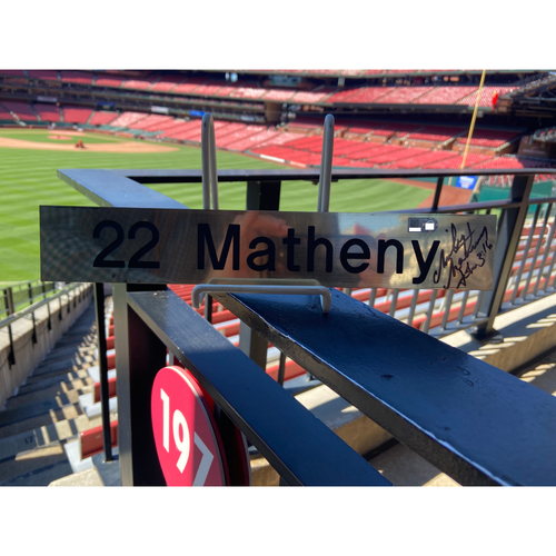 Photo of Cardinals Authentics: Autographed Mike Matheny Small Nameplate