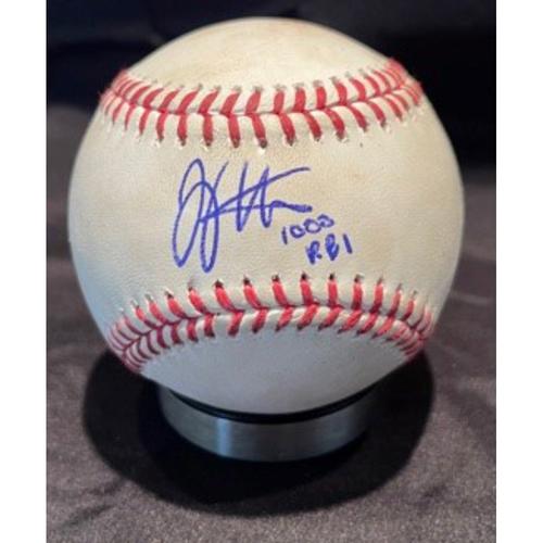 Photo of Joey Votto *Game-Used, Autographed & Inscribed* Baseball from 1,000th Career RBI Game - Joe Musgrove to Jonathan India (Ball) -- 06/30/2021 - SD vs. CIN - Bottom 4
