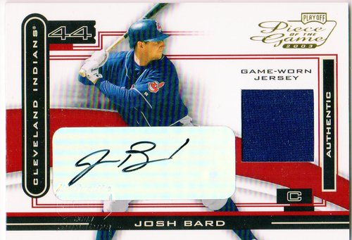 Photo of 2003 Playoff Piece of the Game Autographs #47 Josh Bard Jsy