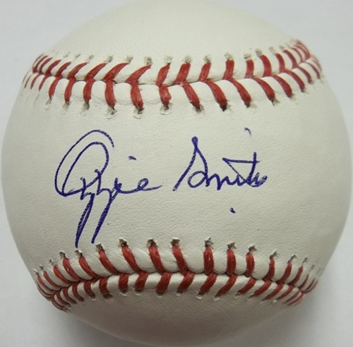 Photo of Ozzie Smith Autographed Baseball