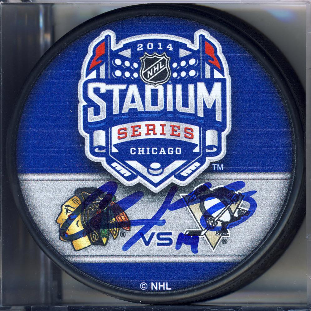 CHRIS KUNITZ Pittsburgh Penguins AUTOGRAPHED 2014 Stadium Series Hockey Puck