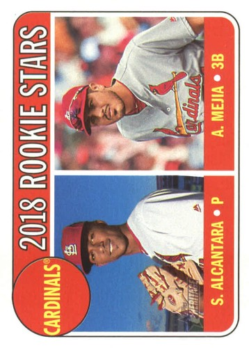 Photo of 2018 Topps Heritage #14 Alex Mejia RC/Sandy Alcantara RC