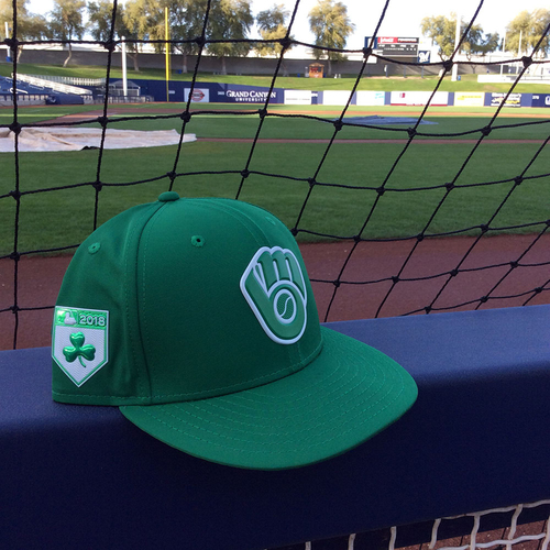 Photo of Marcus Hanel 2018 Team-Issued St. Patrick's Day Cap