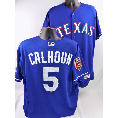 Photo of Willie Calhoun Game-Used Spring Training Jersey