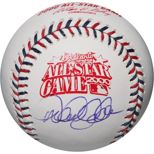 Photo of Derek Jeter Autographed 2000 All-Star Game Logo Baseball