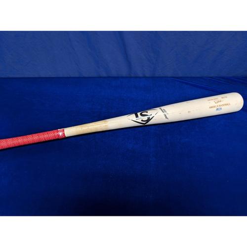 Photo of Game Used Broken Bat: David Fletcher Single - 8/10/18 OAK vs. LAA
