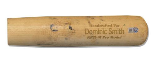 Photo of Dominic Smith #22 - Team Issued Bat - Beige Marucci Model - 2017 Season