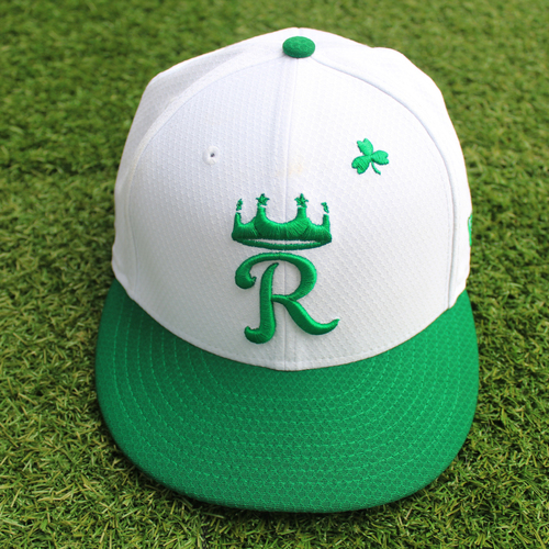 Photo of Game-Used St. Patrick's Day Cap: Tim Hill (Size 7 3/8 - SF @ KC - 3/17/19)