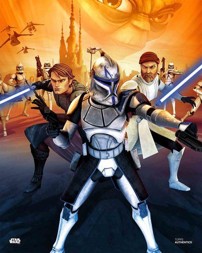 Anakin Skywalker, Obi-Wan Kenobi, Yoda and Captain Rex
