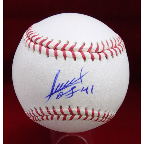 Photo of Alexi Ogando Autographed Baseball