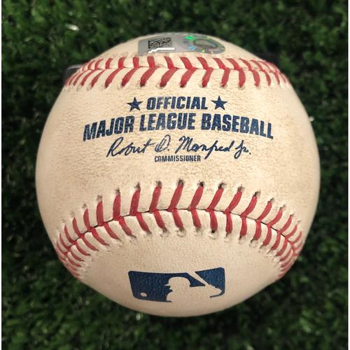 Photo of Josh Donaldson Game Used Hit Single Baseball - June 18, 2019