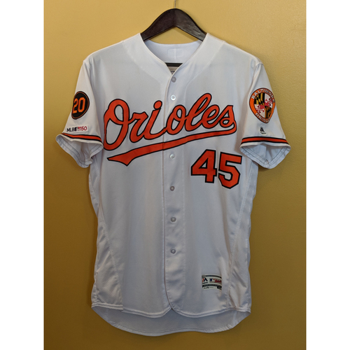 Photo of Mark Trumbo - Home Jersey: Game-Used