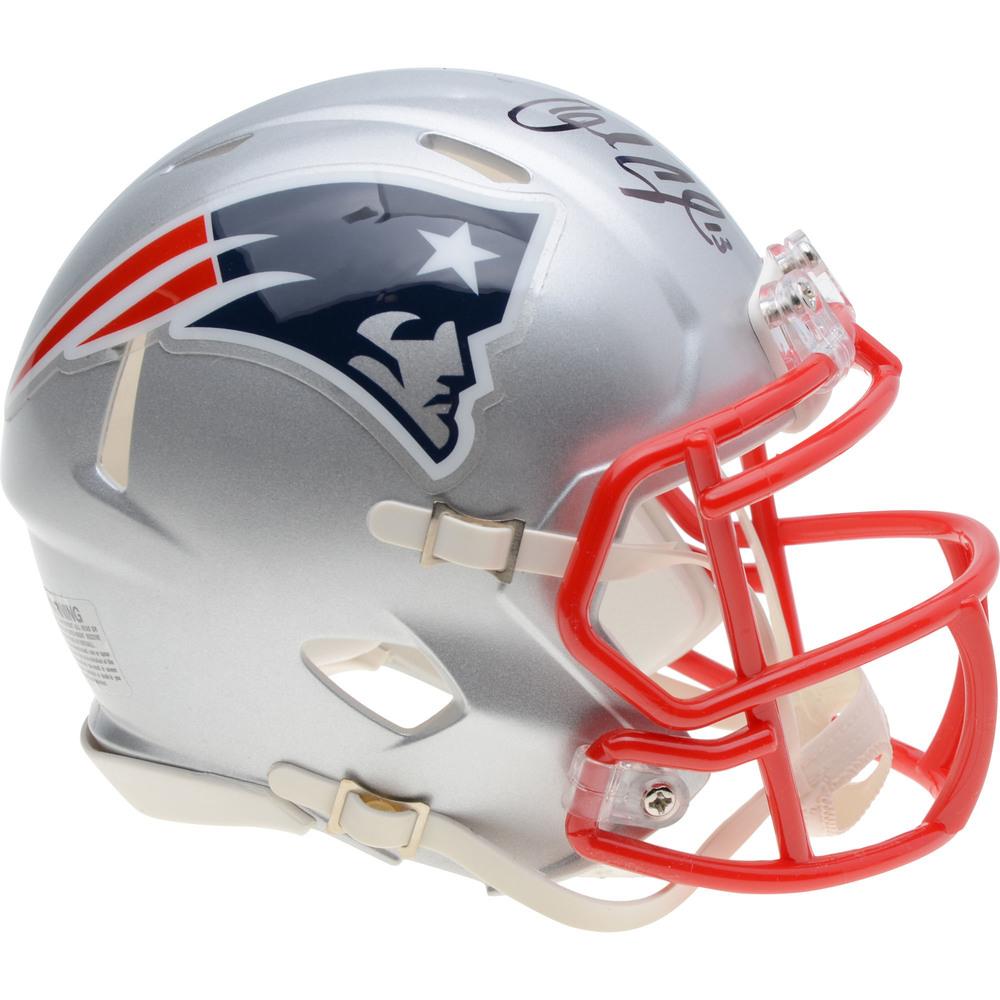Charlie Coyle Boston Bruins Autographed New England Patriots Speed Mini Helmet