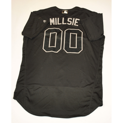"Photo of Brad ""MILLSIE"" Mills Cleveland Indians Game-Used 2019 Players' Weekend Jersey"
