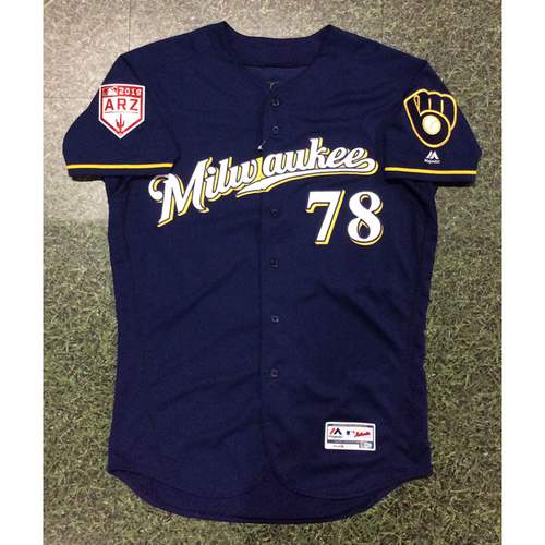 Photo of Corey Ray 2019 Game-Used Spring Training Jersey (Milwaukee Brewers #2 Prospect)