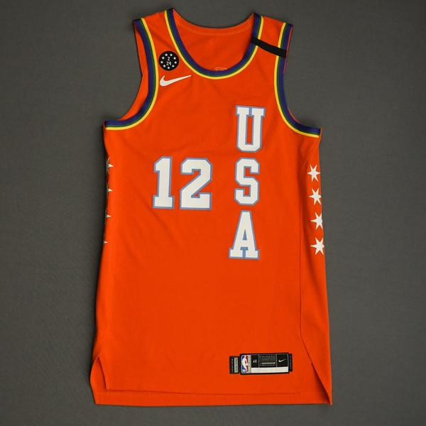 Image of Ja Morant - 2020 NBA Rising Stars - Team USA - Game-Worn 1st Half Jersey