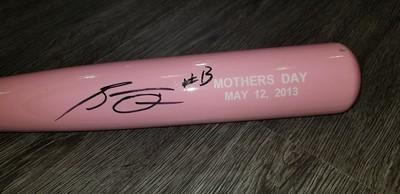 Roman Quinn Autographed Pink Memorabilia Bat