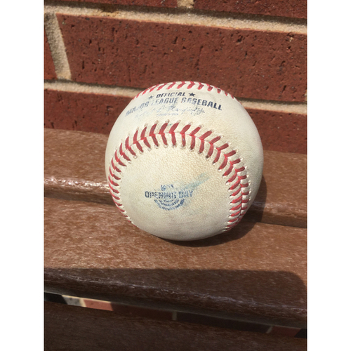 Photo of Game Used Atlanta Braves 2020 Opening Day Baseball